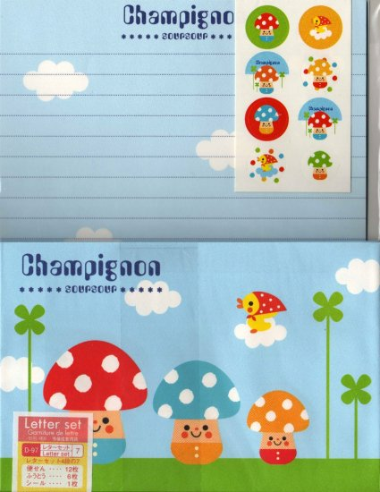 Champignon Mushroom Letter Set with Stickers