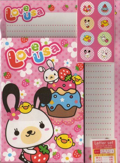 Love USA Letter Set with Stickers