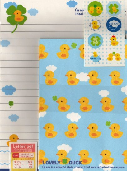 Cute Ducks Letter Set with Stickers