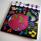 Q-lia music notes sticker sack