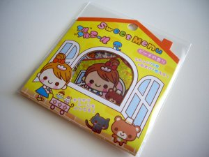 kawaii Q-lia sweet menu sticker sack