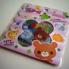 kawaii Q-lia chocolate bear sticker sack