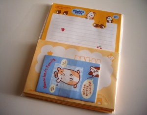 kawaii San-x hamuchan's family letter set