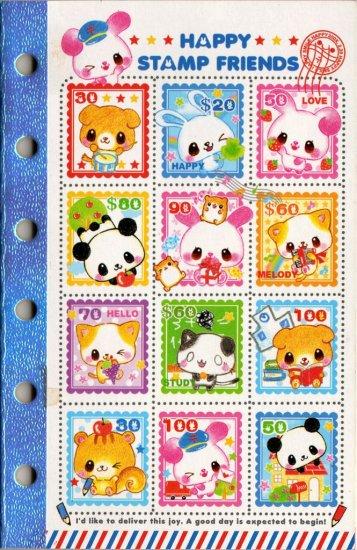 kawaii Kamio happy stamp friends sticker album