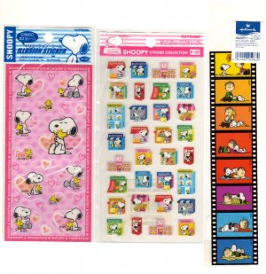 Snoopy sticker sheets lot of 3