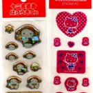 kawaii Sanrio hello kitty monkey costume and hearts sticker sheets