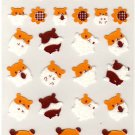 kawaii Ark Road sunflower hamsters sticker sheet