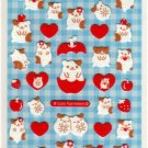 kawaii Mind Wave apple and strawberry sticker sheet