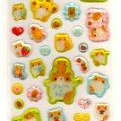 kawaii Mind Wave fruits hamsters sticker sheet