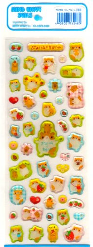 kawaii Mind Wave fruits hamsters sticker sheet