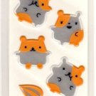 kawaii San-x seal market how are you hamsters sticker sheet 1999
