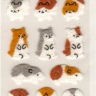 San-x seal market hamsters sticker sheet 1998