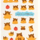 Point Inc glitter snuggling hamsters sticker sheet
