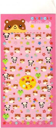 kawaii cheep chic hamsters sticker sheet