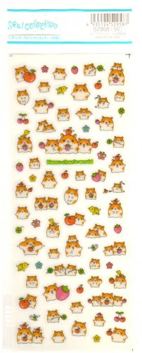kawaii Crux fruity glitter hamu chan's world sticker sheet