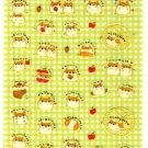 kawaii Kamio Japan ringo hamsters sticker sheet