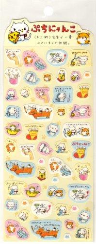 kawaii Q-lia animal lives sticker sheet