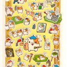 kawaii San-x seal market hamster painters sticker sheet 2000