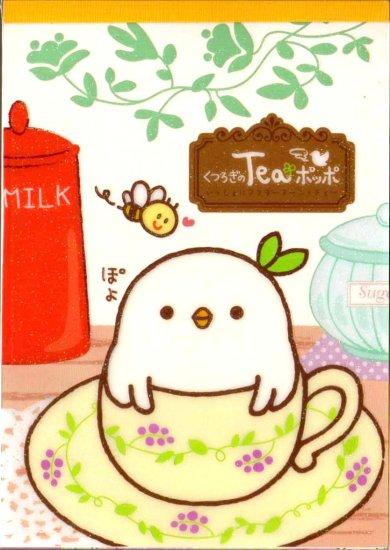 kawaii San-x chick tea time memo pad