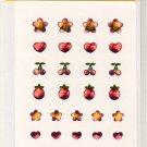 Crux shiny hearts, flowers, stars deco sticker sheet