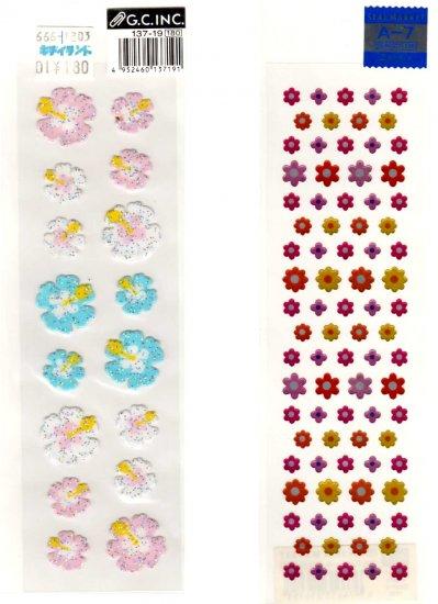 Flowers sticker sheet lot 2 pieces