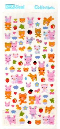 kawaii Crux seal collection animals sticker sheet