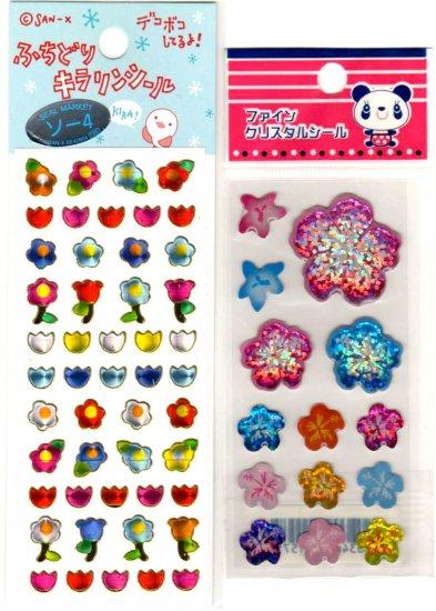 kawaii flowers mini sticker lot