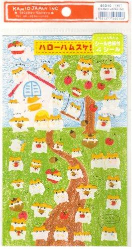 kawaii Kamio Japan hamsters house sticker sheet