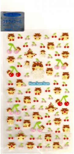 kawaii M.D. You humhumhum hamsters sticker sheet