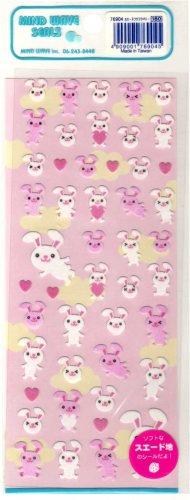 kawaii Mind Wave flying bunnies sticker sheet