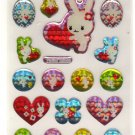 kawaii Mind Wave heart bunnies sticker sheet