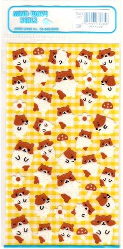 kawaii Mind Wave mushroom hamsters sticker sheet