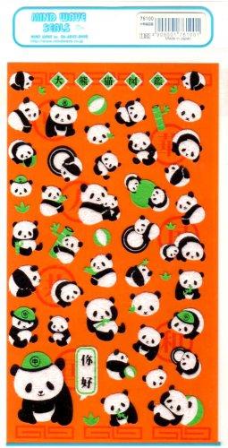 kawaii Mind Wave panda sticker sheet