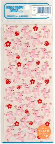 kawaii Mind Wave strawberry deers sticker sheet
