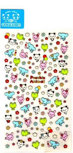 kawaii Preco pucchin animal sticker sheet