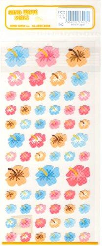Mind Wave blue, pink, orange flowers sticker sheet