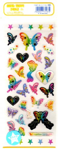 Mind Wave butterflies sticker sheet
