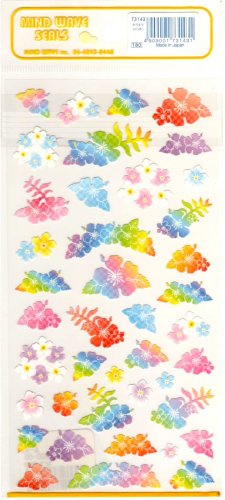Mind Wave colorful flowers sticker sheet