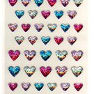 Mind Wave glitter hearts sticker sheet