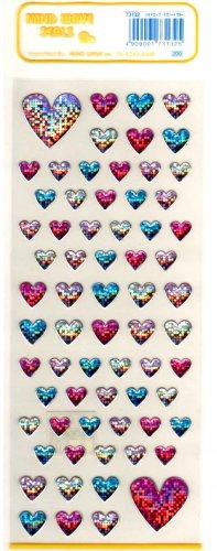 Mind Wave glitter hearts sticker sheet