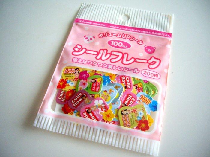 Kamio Japan cutie flower sticker sack