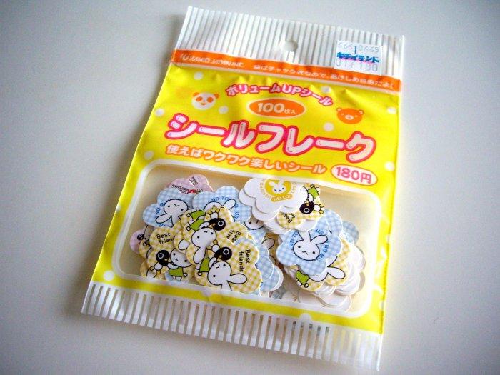 kawaii Kamio Japan usagi no mimi chan sticker sack USED