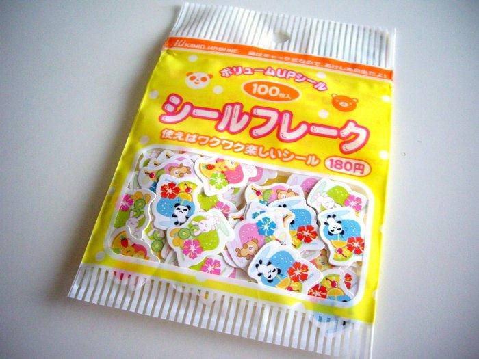 kawaii Kamio Japan animal drinks sticker sack