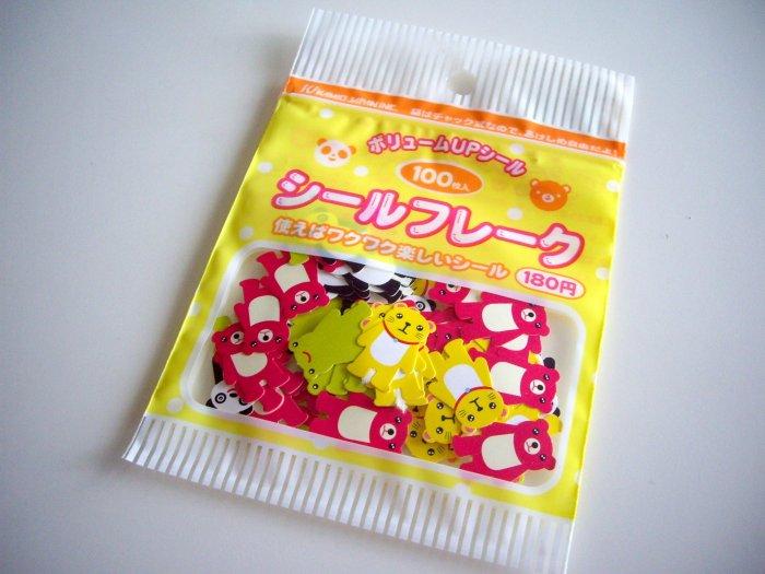 kawaii Kamio Japan animals sticker sack
