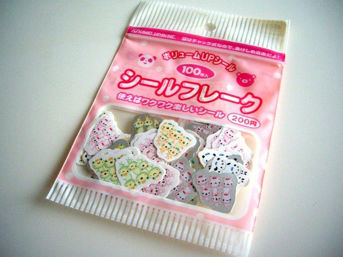 kawaii Kamio Japan tiny animals sticker sack