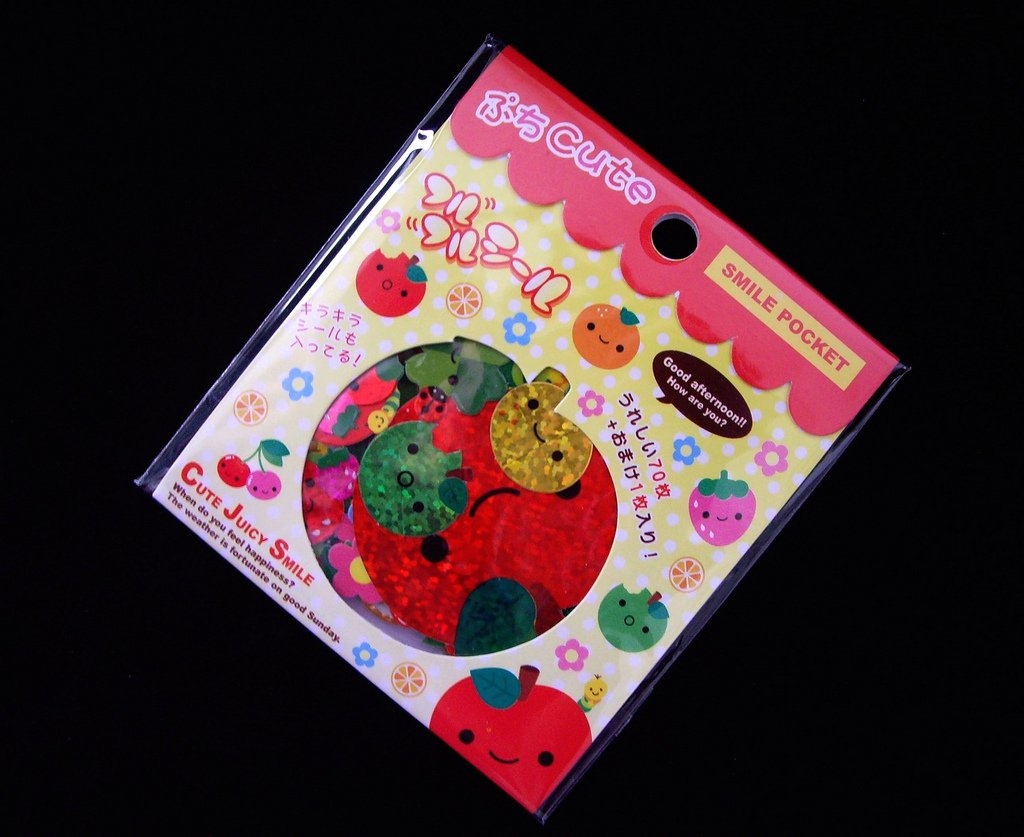 kawaii Q-lia cute juicy smile pocket sticker sack