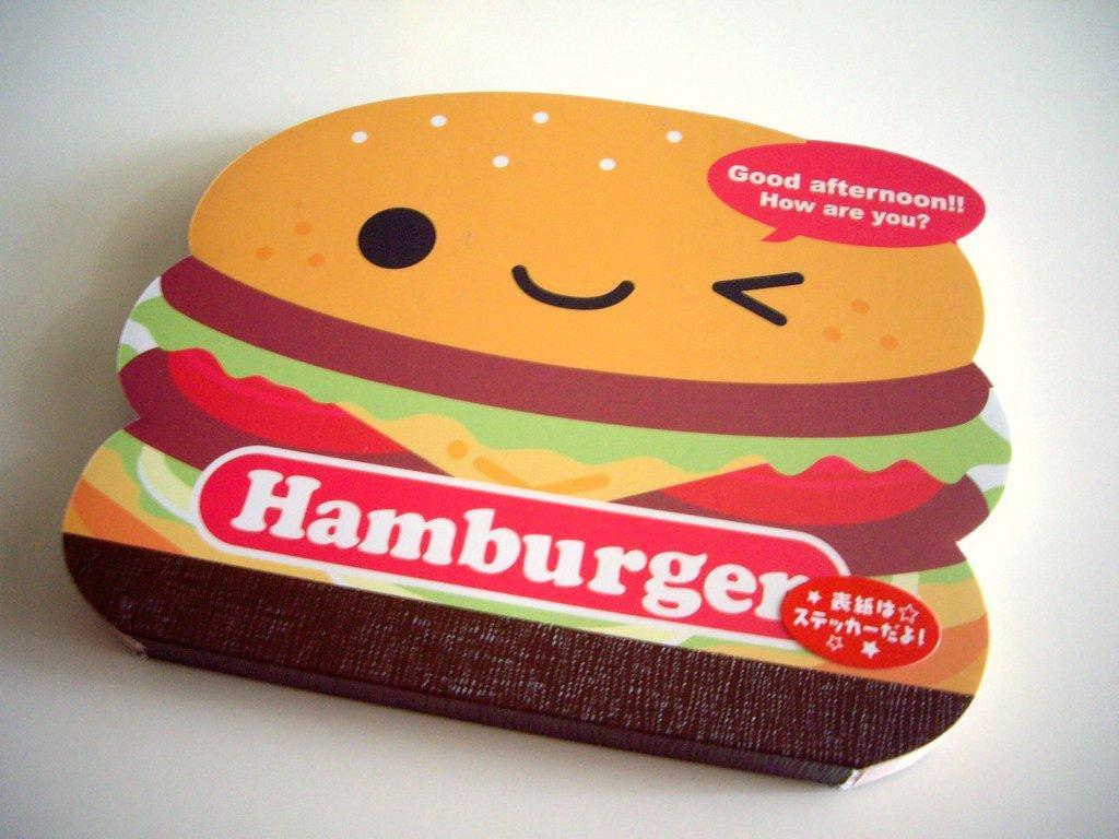 kawaii Q-lia hamburger die cut memo pad