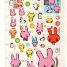 kawaii San-x sad rabbit sticker sheet 2000