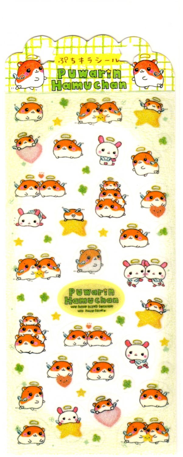 kawaii Q-lia puwarin hamu chan sticker sheet