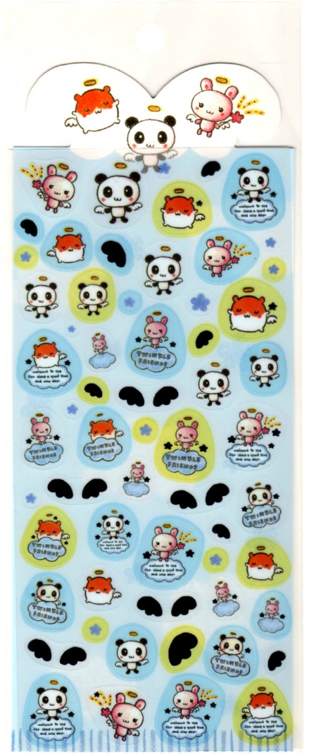 kawaii Q-lia twinkle friends sticker sheet